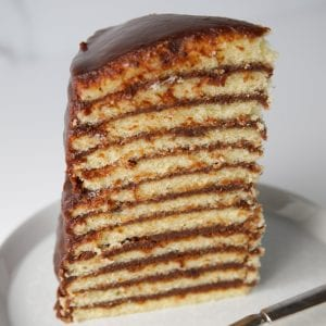 Southern Little layers chocolate cake sliced
