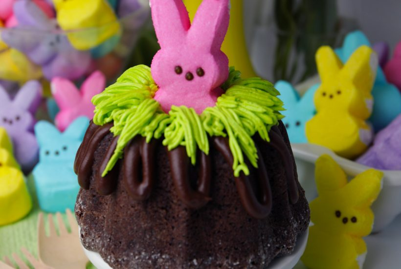 Bunny cakes with PEEPS