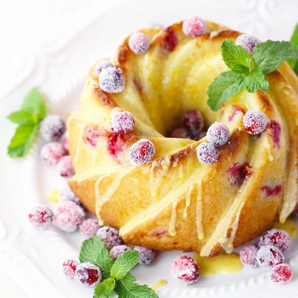 Cranberry orange almond pound cake